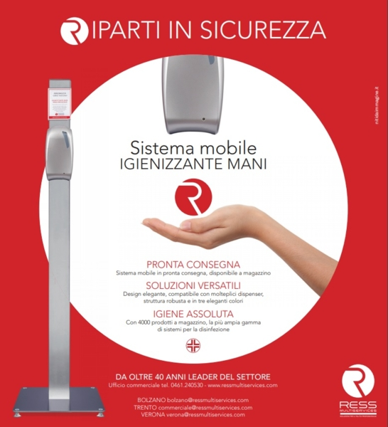 Sistema mobile igienizzante mani